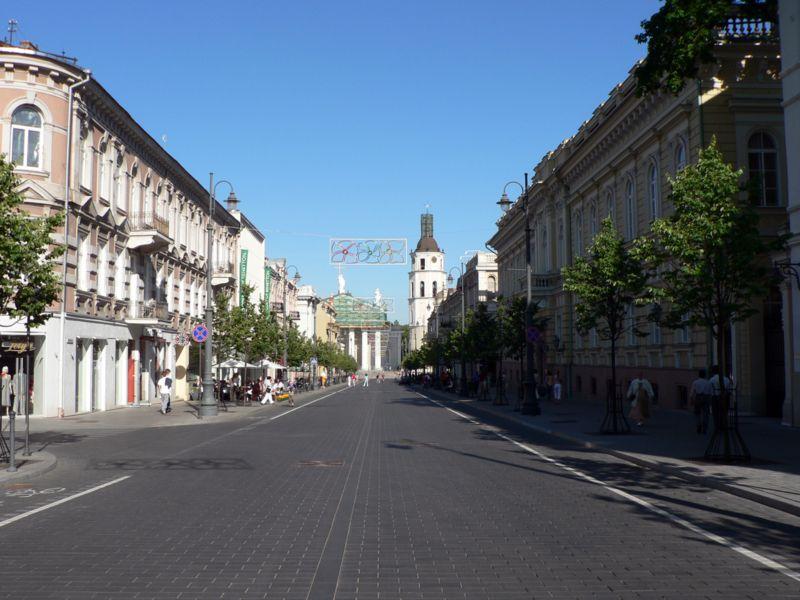 Gedimino Prospektas – paradgatan i Vilnius